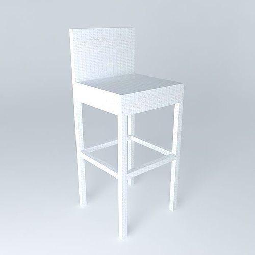 white bar chair antibes houses the world 3d model max obj mtl 3ds fbx stl dae 1