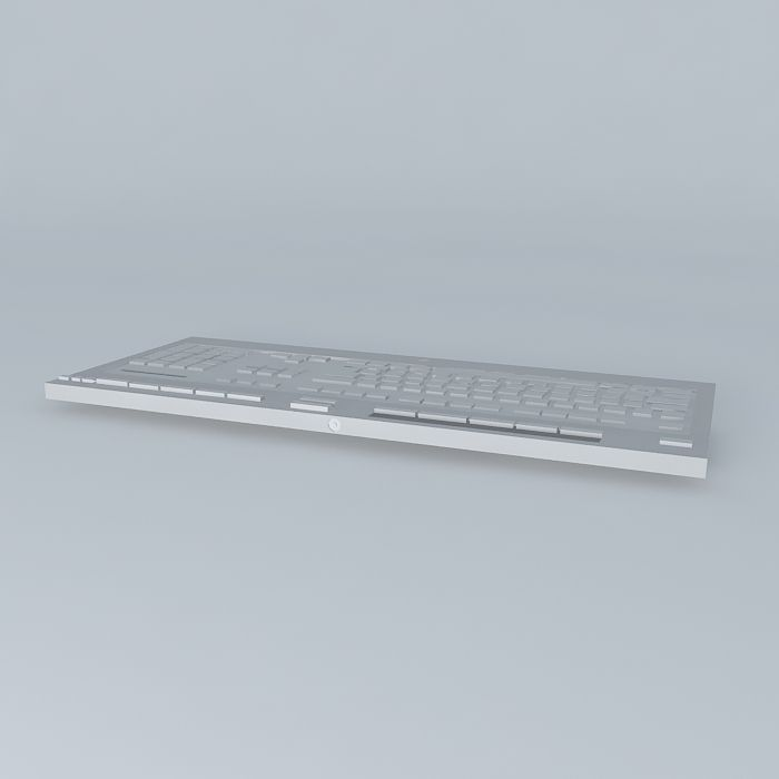 Keyboard Computer 3d Model Max Obj 3ds Fbx Stl Dae 2