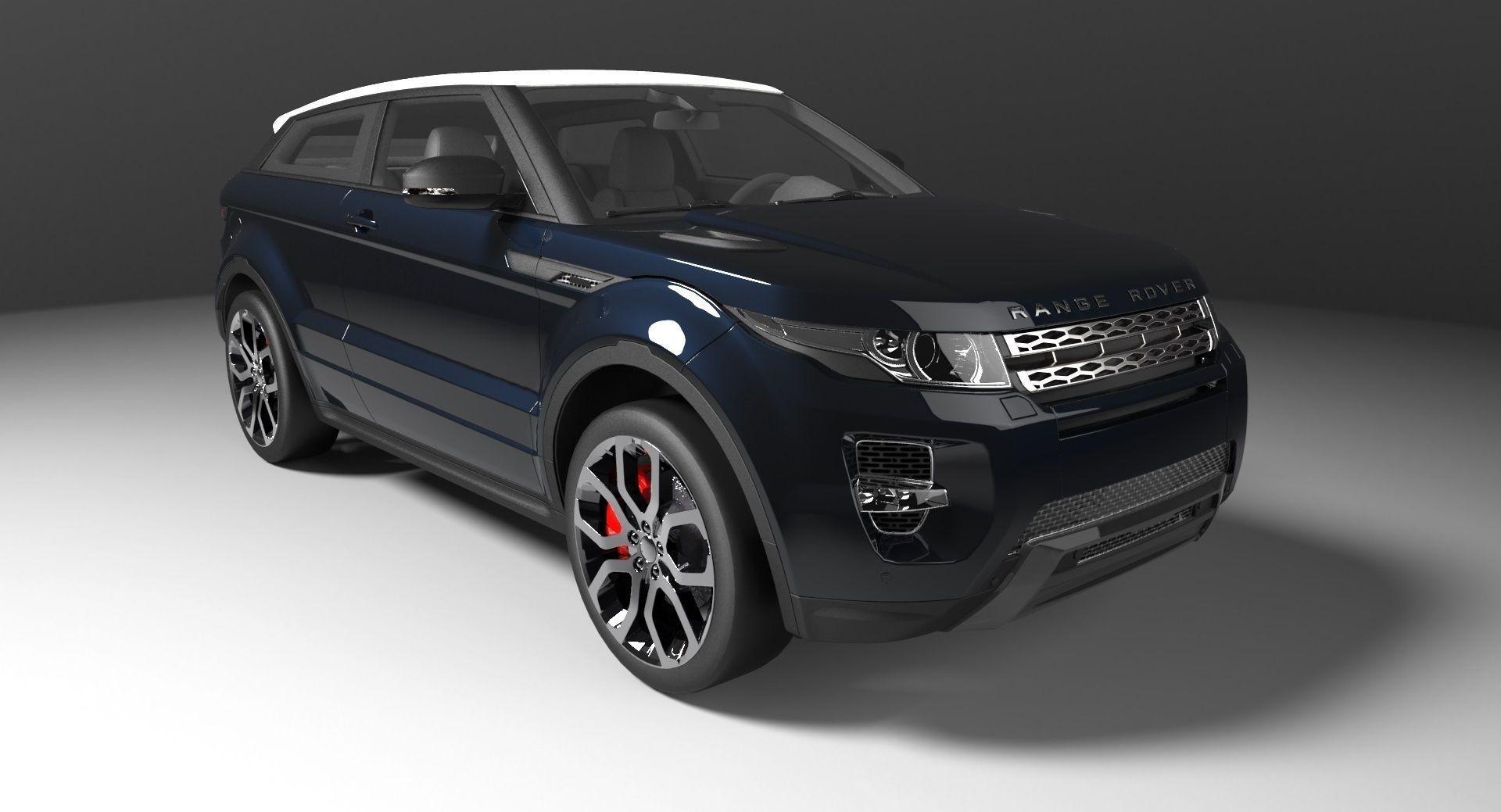 land rover evoque 3d model stl. Black Bedroom Furniture Sets. Home Design Ideas