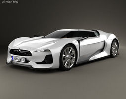 3D Citroen GT with HQ interior 2008