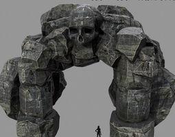 3d model skull cave  4