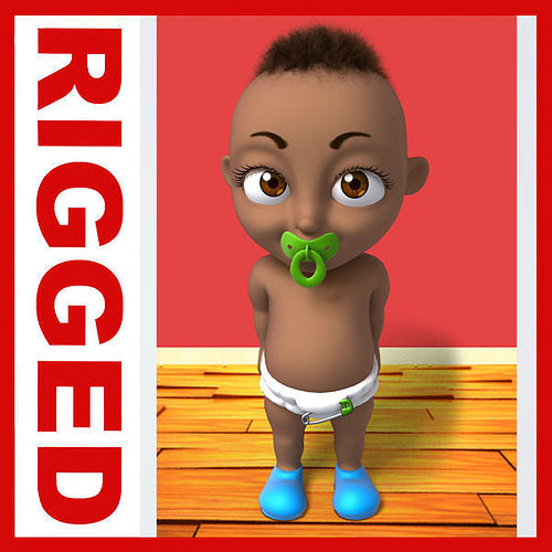 Black baby animation
