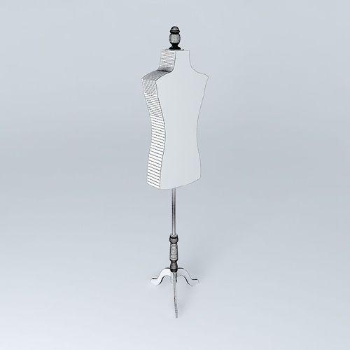 couture fashion model maisons du monde 3d model max obj 3ds fbx stl dae. Black Bedroom Furniture Sets. Home Design Ideas