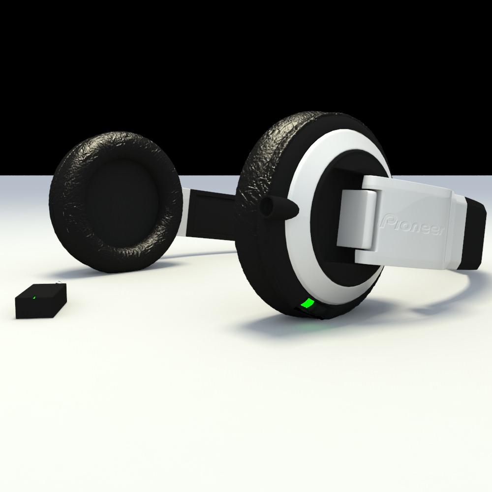 pioneer headphones. pioneer headphones 3d model max 3