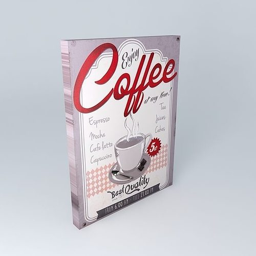 coffee quality canvas houses of the world 3d model max obj mtl 3ds fbx stl dae 1