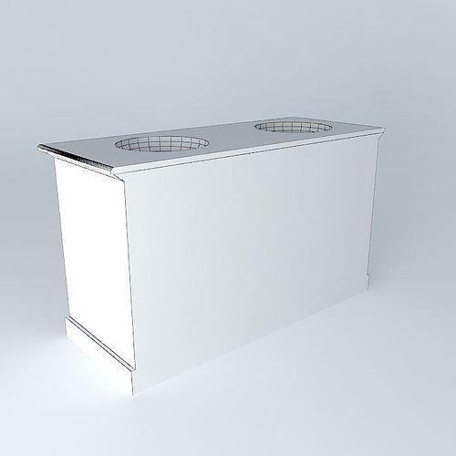 Furnished 2 basins sdb edenton houses the 3d model max obj 3ds fbx stl dae - Sdb model ...