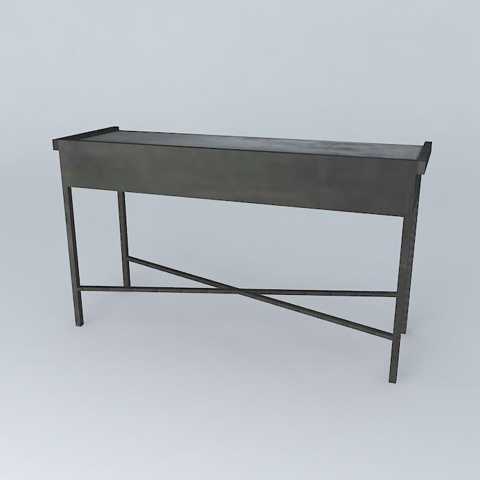 console edison maisons du monde 3d model max obj 3ds. Black Bedroom Furniture Sets. Home Design Ideas