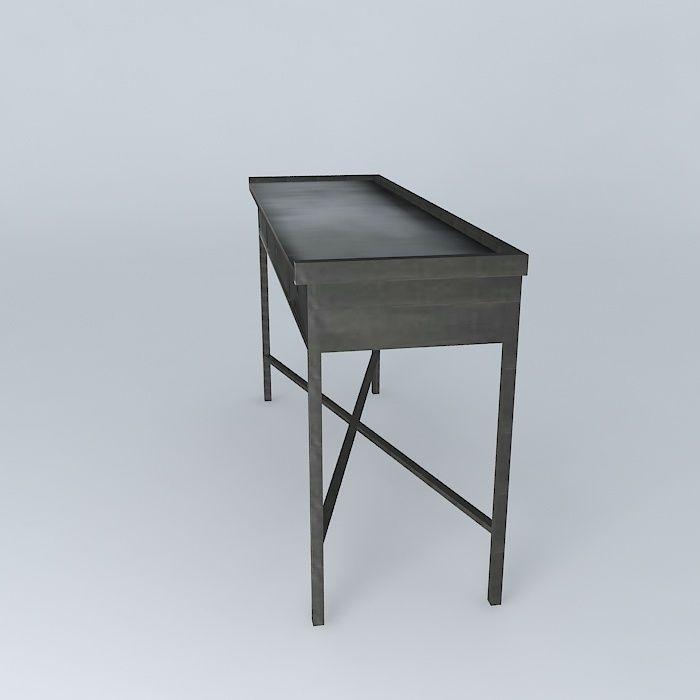 console edison maisons du monde 3d model max obj 3ds fbx stl dae. Black Bedroom Furniture Sets. Home Design Ideas
