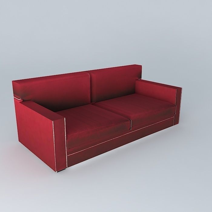 Red Velvet Sofa Dandy Houses The World 3d Model Max Obj 3ds Fbx Stl Dae ...
