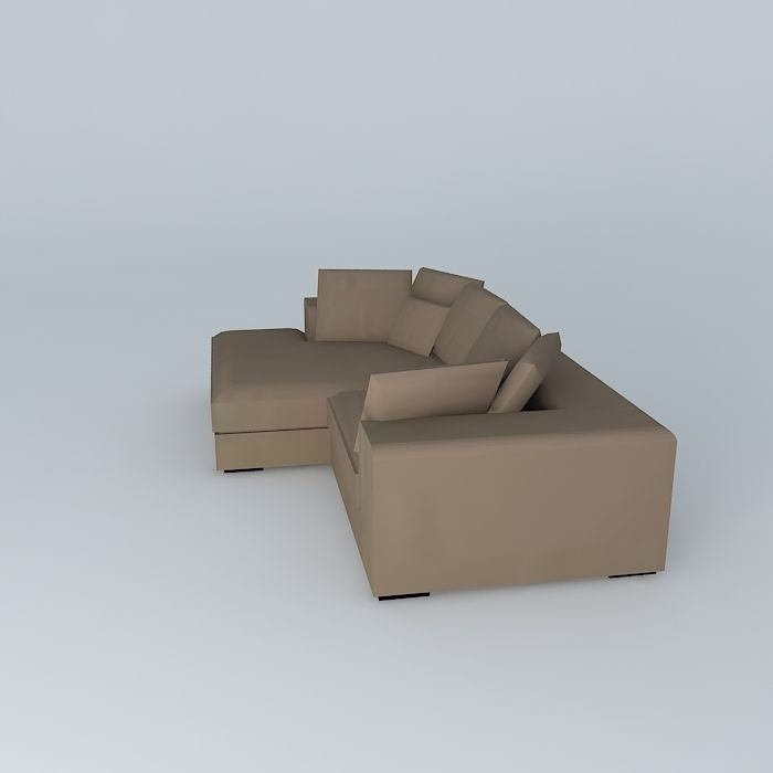 Bruges corner sofa taupe maisons du monde 3d model max - Maison du monde sofa ...