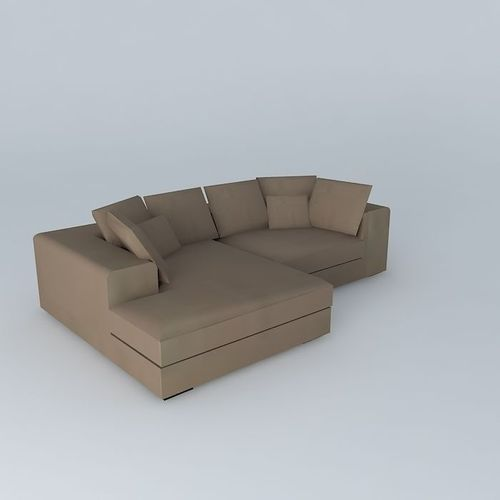 bruges corner sofa taupe maisons du monde 3d model max obj. Black Bedroom Furniture Sets. Home Design Ideas