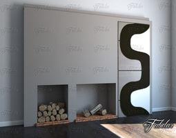 chimney 3D model Fireplace