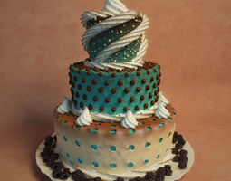 3D Three-tiered cake