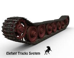 Tracks System Ferdinand Elefant 3D Model