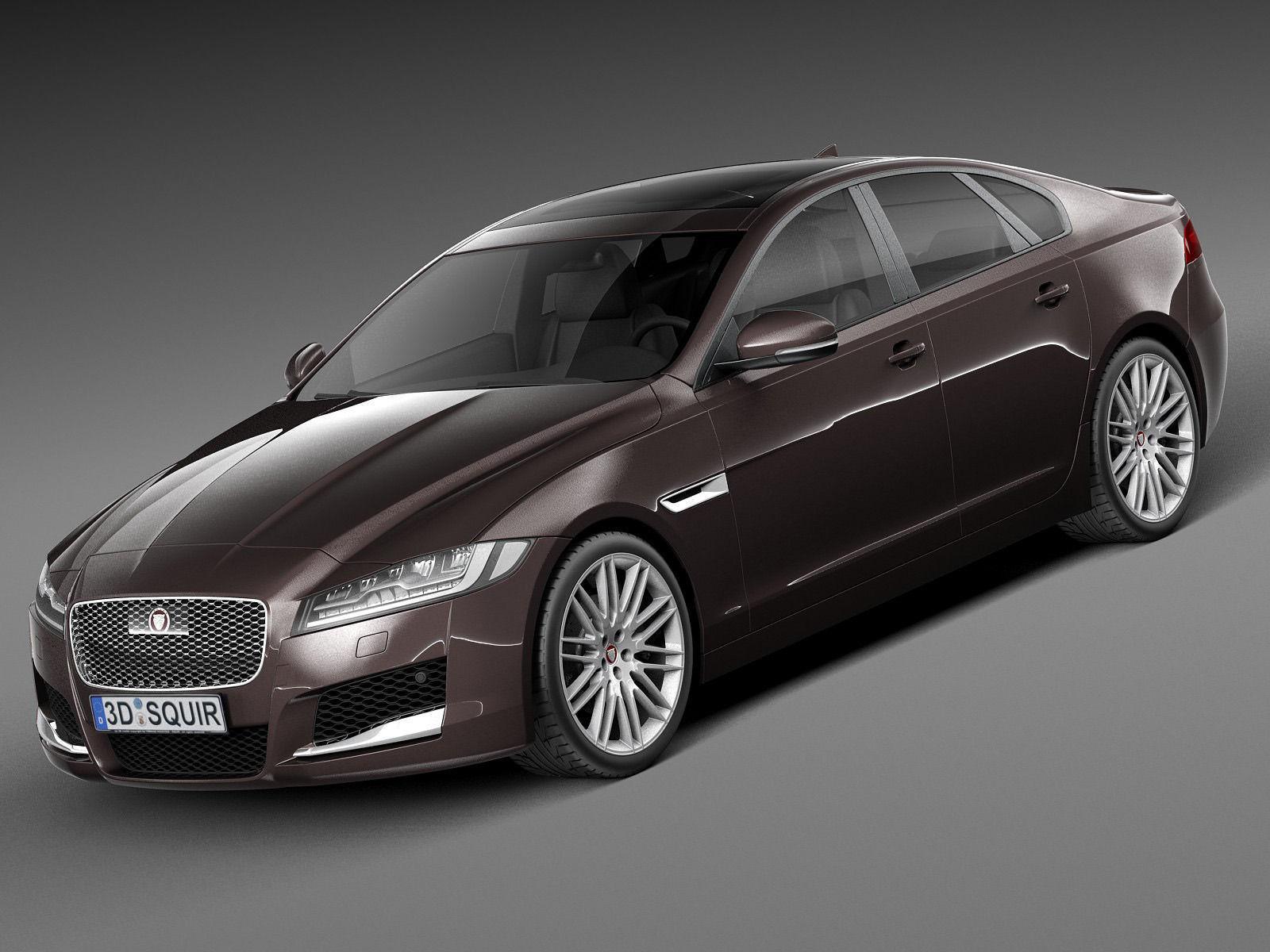 Jaguar XF 2016 3D Model .max .obj .3ds .fbx .c4d .lwo .lw ...