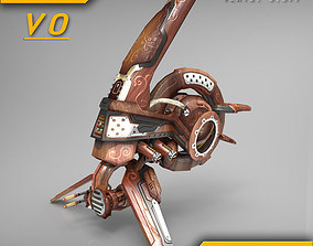 3D asset Drone V0 Wood - ANIMATED