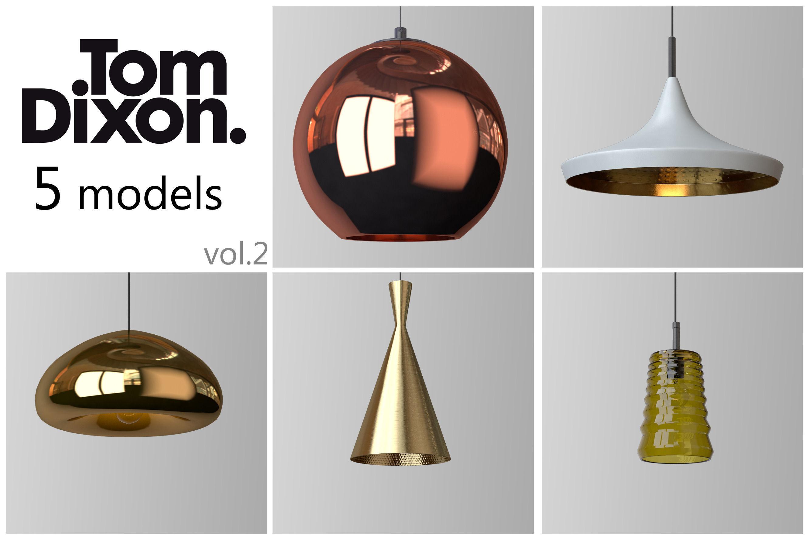 tom lighting. Tom Dixon Lighting Set 2 3d Model Max Obj 1 N