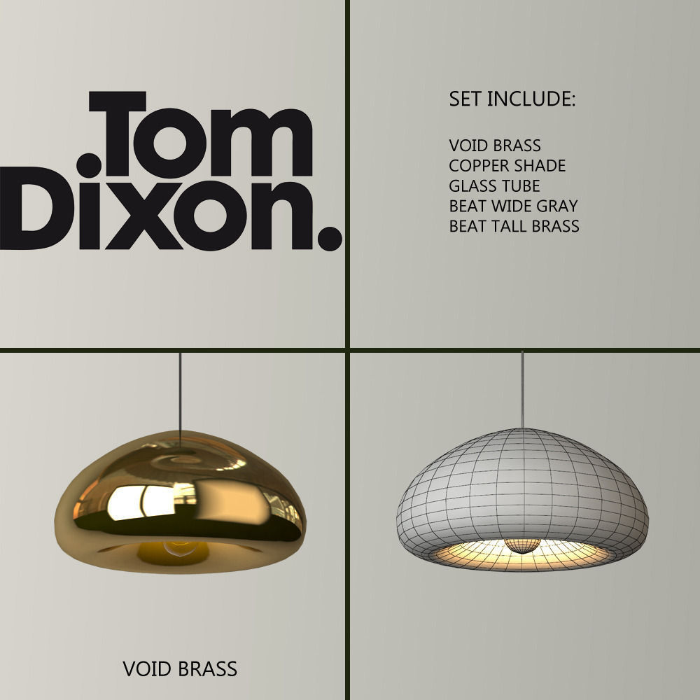 3d model tom dixon lighting set 2 cgtrader tom dixon lighting set 2 3d model max obj 3 aloadofball Choice Image