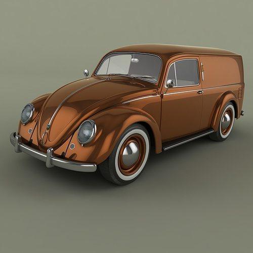 volkswagen beetle van  cgtrader