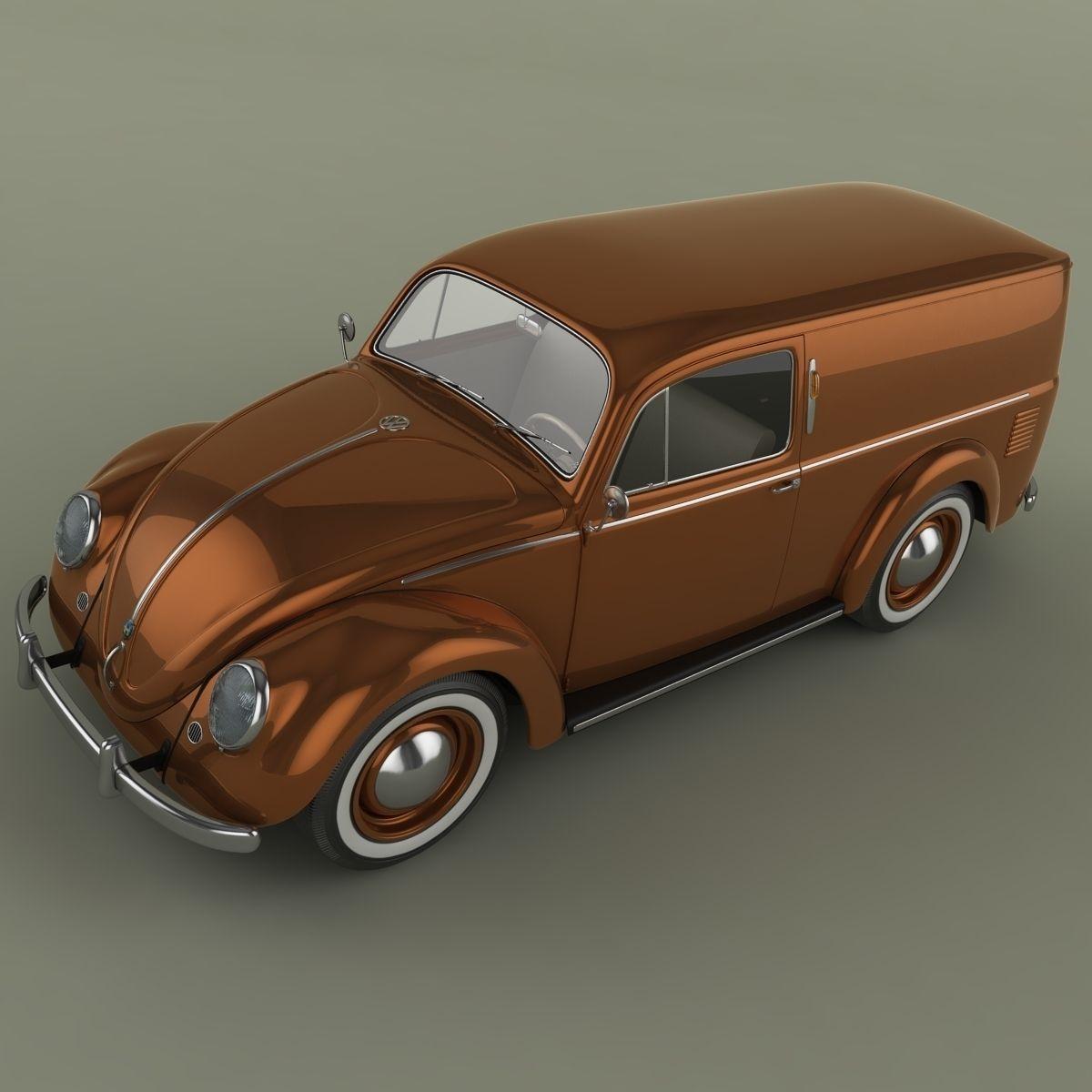 Volkswagen Beetle Van 3D Model .max .obj .fbx - CGTrader.com