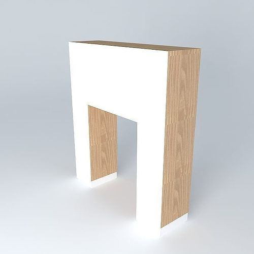 Cabinet With A Hinged Cabinet And Niche To Enter Table 3d Model Max Obj Mtl  3ds ...