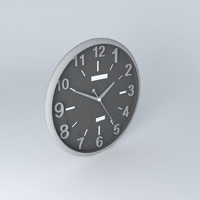 Wall Clock Free 3d Model Max Obj 3ds Fbx Stl Dae