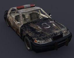 police dirty car 3D Model