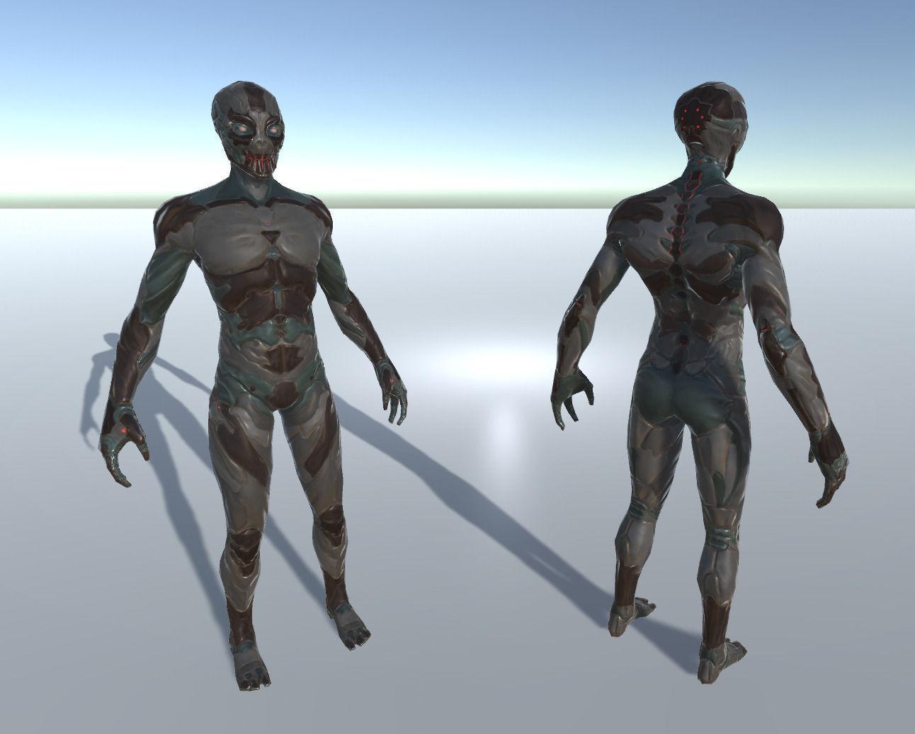 Alien Cyborg Ninja Character
