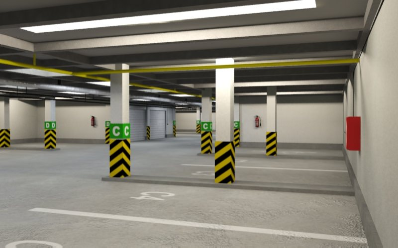 underground parking 3d model underground parking 3d model of