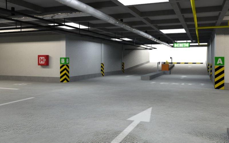 Underground Parking 3d Model Max Obj Fbx Rfa