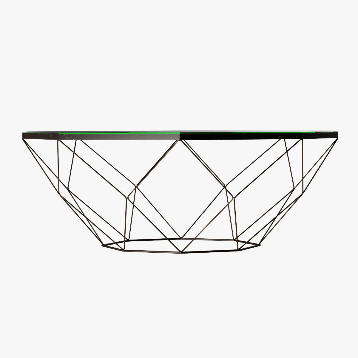 Geometric Antique Brass Coffee Table With Glass Top 3d Model Max Obj 3ds Fbx Mtl 3