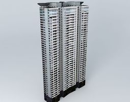 3D Skyline Mansion Tower