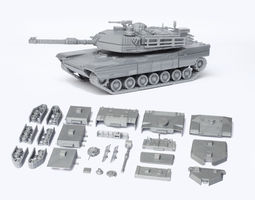 M1 Abrams Tank Detailed Model Kit 3D Model