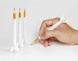 3d print model rocket pencil extender