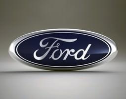 Ford Logo 3D Model