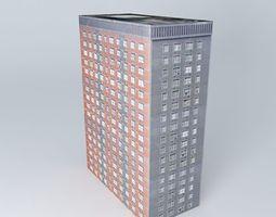 Apartment Building on A406 London 3D