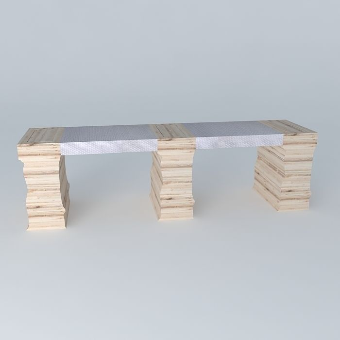 Bench table passes frederic tabary with pa 3d model - Frederic tabary ...
