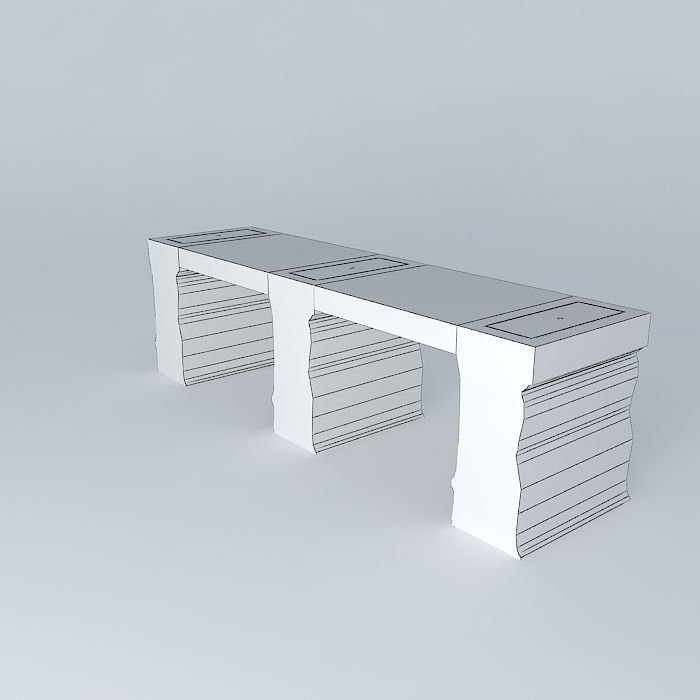 Bench table passes frederic tabary with pa 3d model max obj 3ds fbx stl dae - Frederic tabary ...