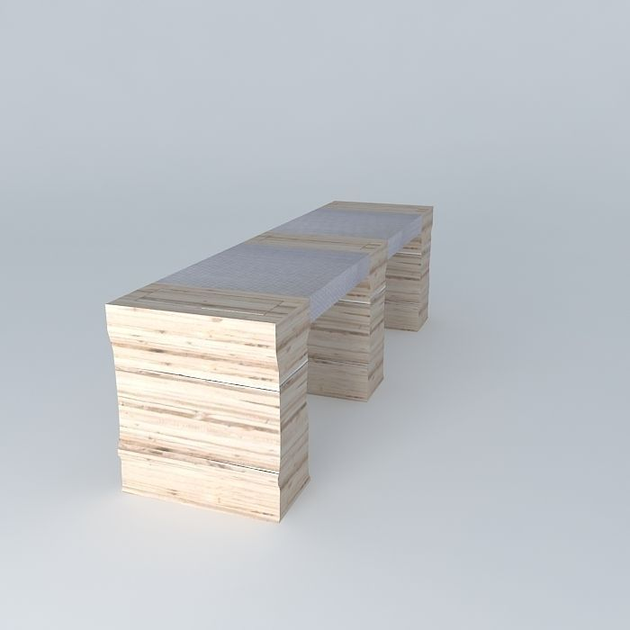 Bench table passes frederic tabary with pa 3d model max - Frederic tabary ...