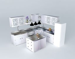 newport the l shaped kitchen island world houses 3d