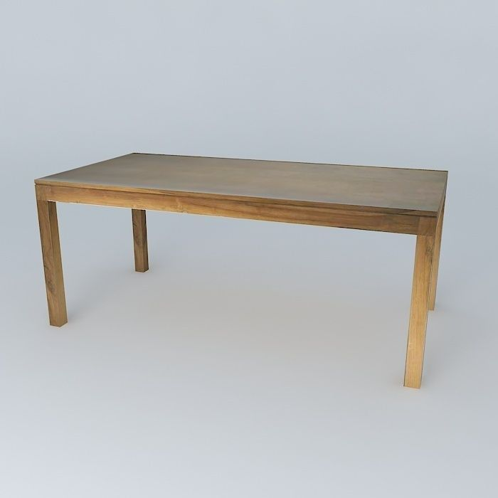 Amsterdam dining table maisons du monde 3d model max obj - Table maison du monde ...