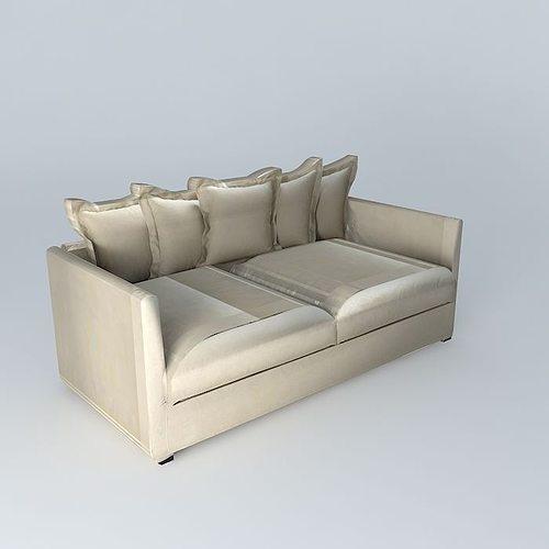 linen sofa trocadero 4 places houses of the world 3d model max obj 3ds fbx stl dae 1
