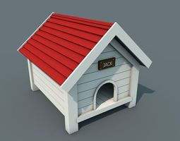 Low Poly Doghouse 3D Model