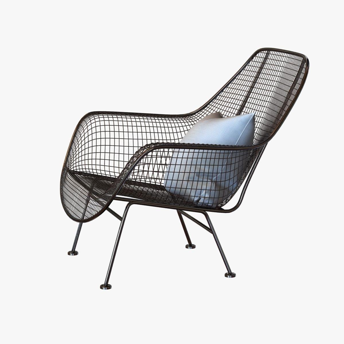Charmant Mid Century Sculptura Garden Lounge Chair By Woodard 3d Model Max Obj 3ds  Fbx Mtl ...