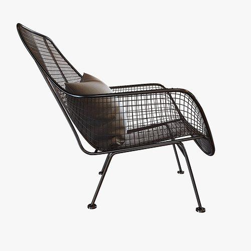 Mid Century Sculptura Garden Lounge Chair By Woodard Model Max Obj Mtl S Fbx