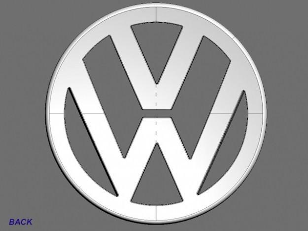 volkswagen logo 3d model max obj. Black Bedroom Furniture Sets. Home Design Ideas