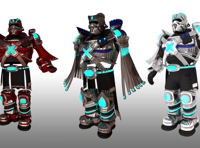 Sci-Fi Armor Set3D model