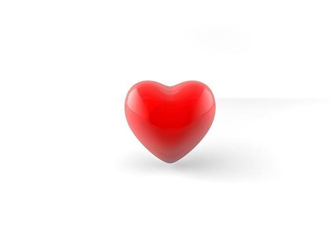 heart 3d model low-poly obj fbx c4d 1