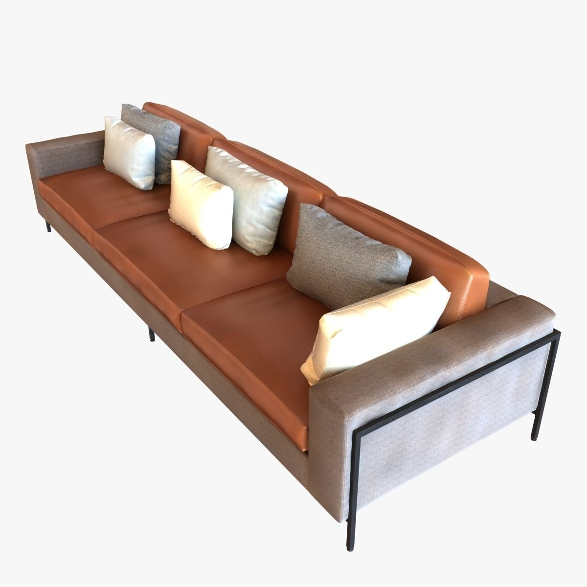Ralph Pucci Upholstery 3 Seat Sofa 3d Model Max Obj Fbx Mtl