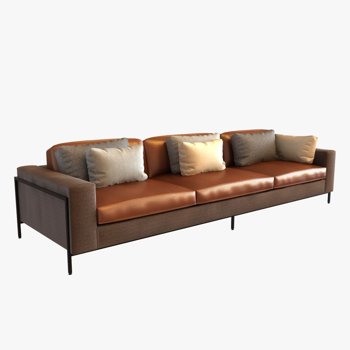 ralph pucci upholstery 3 seat sofa | 3D model